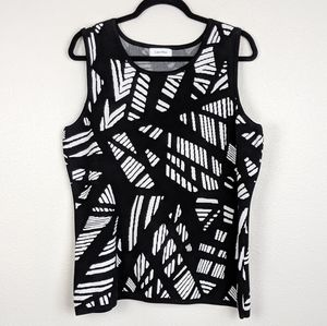 Calvin Klein Shattered Abstract Sweater Vest